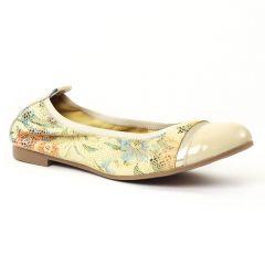 ballerines multicolore beige: même style de chaussures en ligne pour femmes que les Tamaris