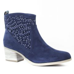 Chaussures femme été 2016 - boots d'été marco tozzi bleu marine
