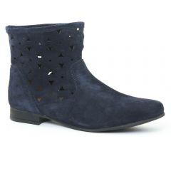 boots-ete bleu marine: même style de chaussures en ligne pour femmes que les Rieker