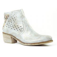 Chaussures femme été 2016 - boots d'été Khrio gris argent