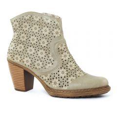 Chaussures femme été 2016 - boots d'été rieker gris taupe