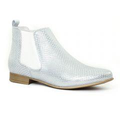 Chaussures femme été 2016 - boots élastiquées Scarlatine gris argent
