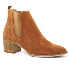 Chaussures femme été 2016 - boots élastiquées tamaris marron