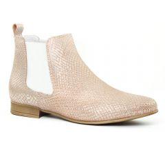 Chaussures femme été 2016 - boots élastiquées Scarlatine python rose