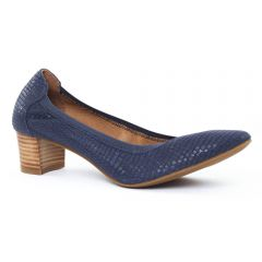 Chaussures femme été 2016 - escarpins à talon carré fugitive bleu