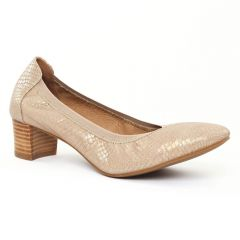 escarpins-talon-carre python beige: même style de chaussures en ligne pour femmes que les Tamaris
