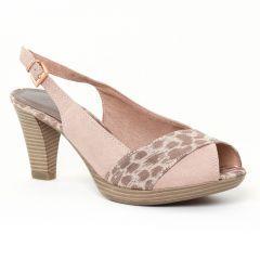 Chaussures femme été 2016 - escarpins bout ouvert marco tozzi rose