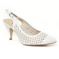 escarpins-brides blanc: même style de chaussures en ligne pour femmes que les Marco Tozzi