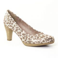 escarpins multicolore beige: même style de chaussures en ligne pour femmes que les Tamaris