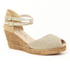 Chaussures femme été 2016 - espadrilles compensées Gaimo beige doré