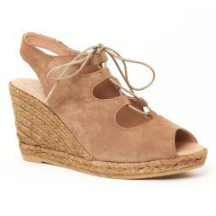 espadrilles-compensees marron: même style de chaussures en ligne pour femmes que les Gaimo
