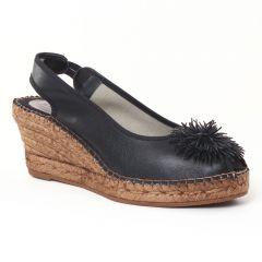 Chaussures femme été 2016 - espadrilles compensées Aedo noir