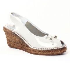 Chaussures femme été 2016 - espadrilles compensées Aedo vernis blanc