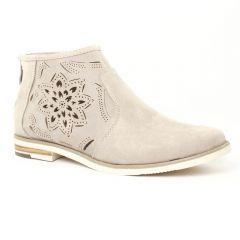 Chaussures femme été 2016 - low boots marco tozzi beige clair