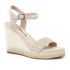 nu-pieds-talons-compenses beige doré: même style de chaussures en ligne pour femmes que les Mamzelle