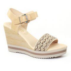 nu-pieds-talons-compenses beige: même style de chaussures en ligne pour femmes que les Scarlatine