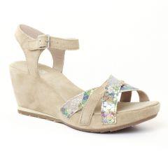 Chaussures femme été 2016 - nu-pieds compensés Khrio beige