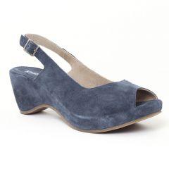 nu-pieds-talons-compenses bleu jean: même style de chaussures en ligne pour femmes que les Mamzelle