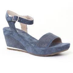 Chaussures femme été 2016 - nu-pieds compensés Khrio bleu jean