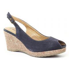 Chaussures femme été 2016 - espadrilles compensées tamaris bleu