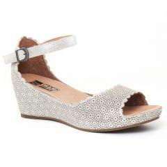 Chaussures femme été 2016 - nu-pieds compensés Mamzelle gris argent
