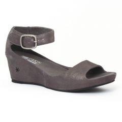 Chaussures femme été 2016 - nu-pieds compensés Mamzelle gris etain