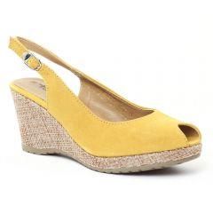 Chaussures femme été 2016 - espadrilles compensées tamaris jaune