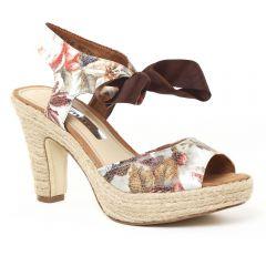 nu-pieds-semelle-corde multicolore: même style de chaussures en ligne pour femmes que les Khrio