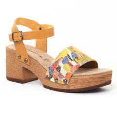 Chaussures femme été 2016 - nu-pieds talons hauts tamaris jaune