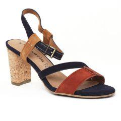 nu-pieds-talons-hauts multicolore: même style de chaussures en ligne pour femmes que les Fugitive