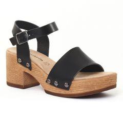 Chaussures femme été 2016 - nu-pieds talons hauts tamaris noir
