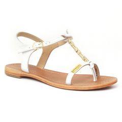 sandales blanc doré: même style de chaussures en ligne pour femmes que les Khrio