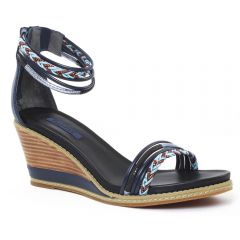 Chaussures femme été 2016 - sandales compensées fugitive bleu