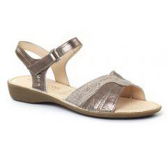 Chaussures femme été 2016 - sandales Dorking doré