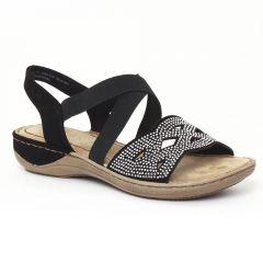 Chaussures femme été 2016 - sandales marco tozzi noir