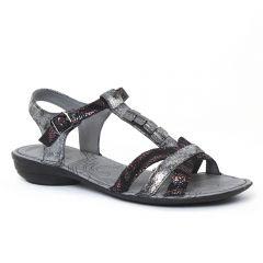 Chaussures femme été 2016 - sandales fugitive noir metal
