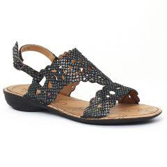 Chaussures femme été 2016 - sandales fugitive python gris noir