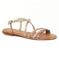 Chaussures femme été 2016 - sandales les tropéziennes rose doré