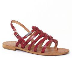 Chaussures femme été 2016 - sandales les tropéziennes rouge