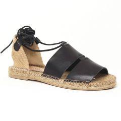 sandales-semelle-corde noir: même style de chaussures en ligne pour femmes que les Les Tropéziennes