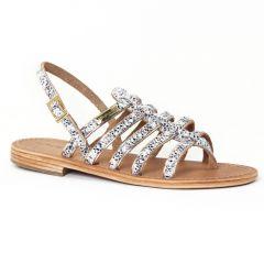 Chaussures femme été 2016 - sandales les tropéziennes serpent blanc