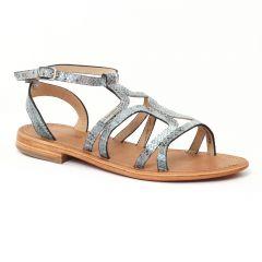 Chaussures femme été 2016 - sandales les tropéziennes serpent bleu