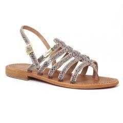 Chaussures femme été 2016 - sandales les tropéziennes serpent gris
