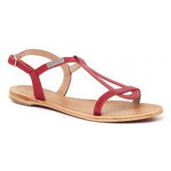 Chaussures femme été 2016 - sandales les tropéziennes serpent rouge