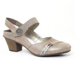 Chaussures femme été 2016 - trotteurs-babies rieker beige taupe