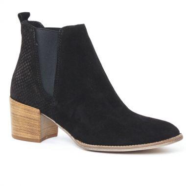 tamaris 25342 black boot lastiqu es noir printemps t chez trois par 3. Black Bedroom Furniture Sets. Home Design Ideas