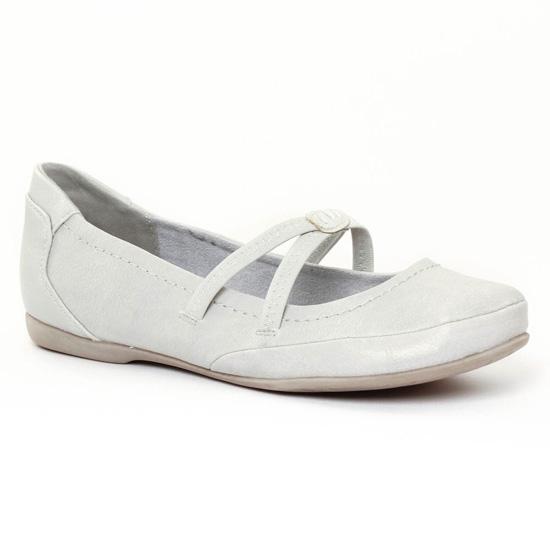 Ballerines Marco Tozzi 24224 White, vue principale de la chaussure femme