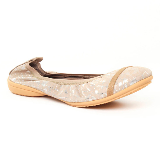 Ballerines Fugitive Nomad beige, vue principale de la chaussure femme