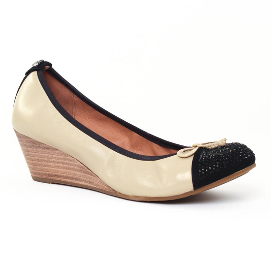 Ballerines Mamzelle Rupo Noir Craie, vue principale de la chaussure femme