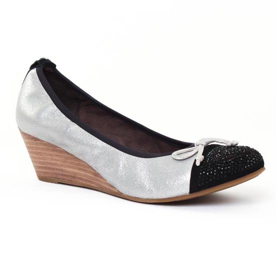 Ballerines Mamzelle Rupo Noir Poudre Acier, vue principale de la chaussure femme